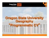 Geosciences - Dawn Wright - Oregon State University