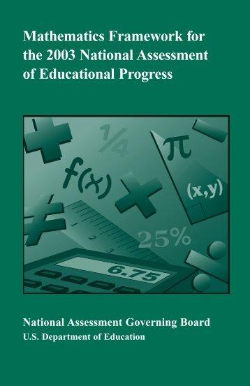Mathematics Framework for the 2003 National Assessment of ...