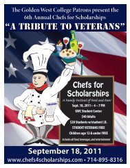 """""""A Tribute to Veterans"""" September 18, 2011 - Golden West College"""