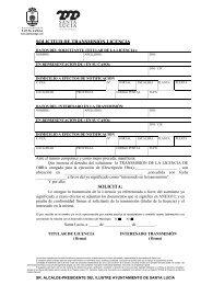 Solicitud Transmisión Licencia de Obra - Ayuntamiento de Santa Lucía