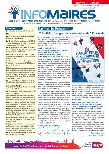 Info-Maires 44 - Association des Maires du Finistère