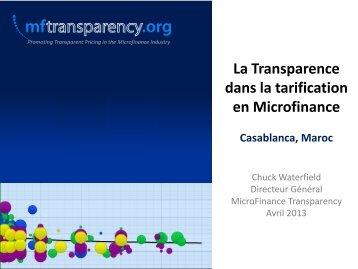 Solde de prêt moyen - MFTransparency.org