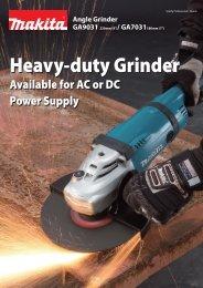 Heavy-duty Grinder Heavy-duty Grinder - Makita