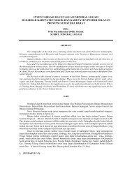 Inventarisasi dan evaluasi Mineral Logam di daerah Kabupaten