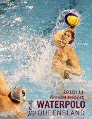 2010/11 Annual Report - Water Polo Queensland