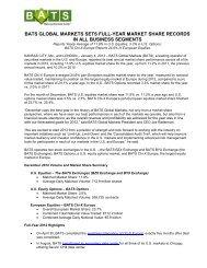 bats global markets sets full-year market share ... - BATS Exchange