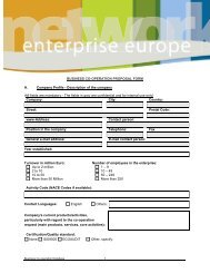 BUSINESS CO-OPERATION PROPOSAL FORM A. Company Profile ...