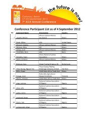 Conference Participant List as of 4 September 2012