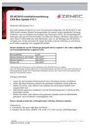 ZE-NC2010_Serviceinfo_Installationsanleitung CAN Bus ... - Zenec