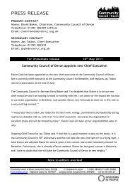 2011.05.10 Community Council of Devon appoints new Chief ...