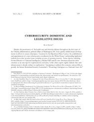 cybersecurity: domestic and legislative issues - National Security ...