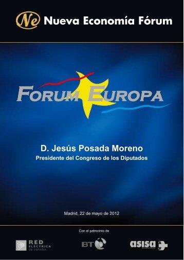 D. Jesús Posada Moreno Presidente del Congreso de los Diputados ...