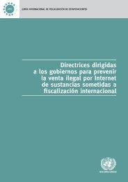 Directrices dirigidas a los gobiernos para prevenir la venta ... - INCB