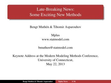 Late-Breaking News - Modern Modeling Methods Conference ...
