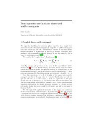 Bond operator methods for dimerized antiferromagnets - Harvard ...
