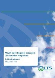 Mount Elgon Regional Ecosystem Conservation Programme End ...