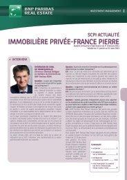 IMMOBILIÈRE PRIVÉE-FRANCE PIERRE - BNP Paribas REIM