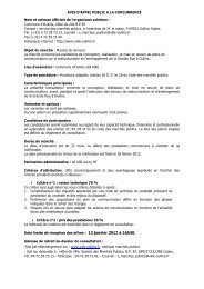 AVIS D'APPEL PUBLIC A LA CONCURRENCE - Ville d'Oullins