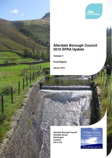 SFRA (Update 2010) Vol 1 in PDF format - Allerdale Borough Council