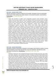 Program Studi Manajemen - DIGITAL LIBRARY - FAKULTAS ...
