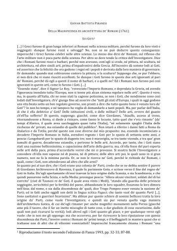 Page 1 GIOVAN BATTISTA PIRANESI DELLA MAGNIFICENZA ED ...