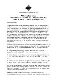 Projecten 2011_2012 - Waterwegen en Zeekanaal