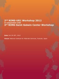 2nd NIMS-UR1 Workshop 2012 - Institut des Sciences Chimiques ...