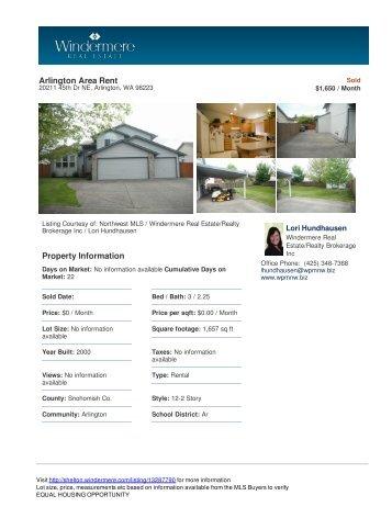 Arlington Area Rent Property Information - Windermere Real Estate