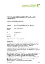 physikalisch-technische grundlagen - Module.Online - Login
