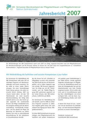 Jahresbericht 2007 - SBK Sektion Zentralschweiz