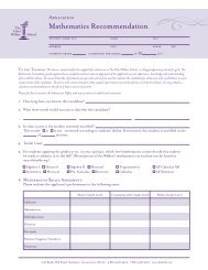 Math Teacher Recommendation - The Ethel Walker School