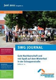 Mieter Journal der SWG - Ausgabe 10 (Juni 2011) - SWG Stadt- und ...