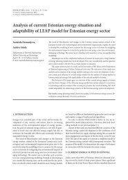 analysis of current estonian energy situation and adaptability of leap ...