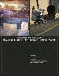 Ten-Year Plan to End Chronic Homelessness - Knoxville-Knox ...