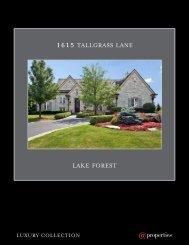 1615 TALLGRASS LANE LAKE FOREST - Properties