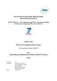 Petascaling and Optimisation Guides for PRACE Systems