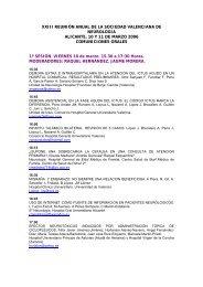 xxiii reunin anual de la sociedad valenciana de neurologia