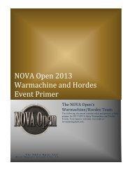 NOVA Open 2013 Warmachine and Hordes Event Primer