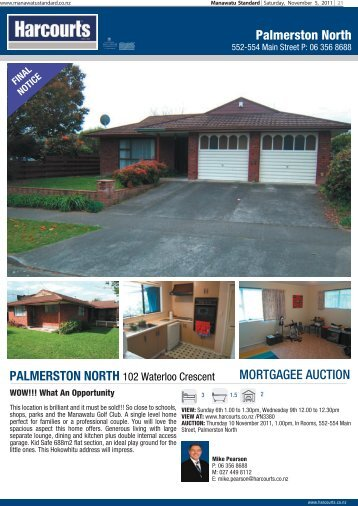 Palmerston North MORTGAGEE AUCTION - Stuff