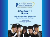 GAcollege411 Update - Georgia Department of Education