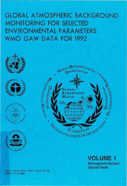 VOLUME 1 - E-Library - WMO