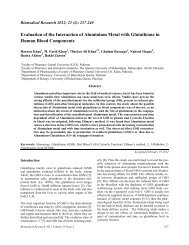 Evaluation of the Interaction of Aluminium Metal with Glutathione in ...