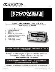 2000-2001 HONDA CBR 929 RR - Power Commander