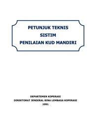 Petunjuk Teknis Sistem Penilaian KUD Mandiri - Smecda