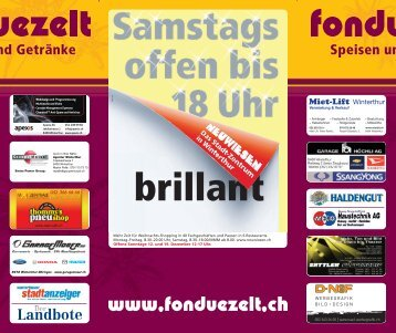 brillant - Fondue-Zelt