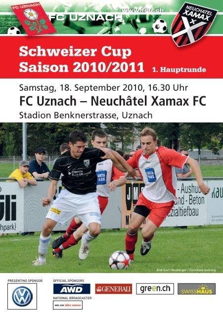 Schweizer Cup Saison 2010/2011 1. Hauptrunde - FC Uznach