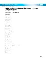 Meeting Minutes - The IEEE Standards Association