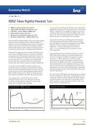BNZ Economy Watch - Wholesale Banking - Home