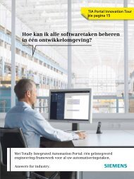 Totally Integrated Automation Portal - Industry - Siemens Nederland