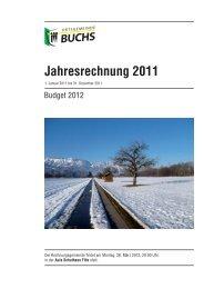 Jahresrechnung 2011 - Ortsgemeinde Buchs